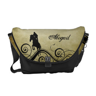Personalized Jumping Horse Messenger Bag