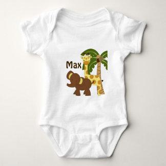 Personalized Jungle Baby Animals Shirt