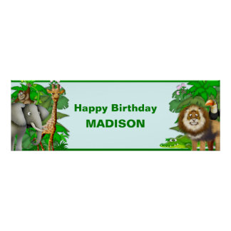 Personalized Jungle  Banner Poster
