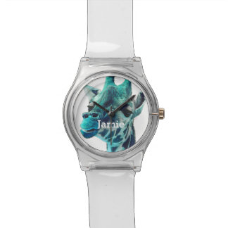 Personalized Jungle Creatures Giraffe Watch