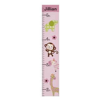 Personalized Jungle Jill/Girl Animals Growth Chart