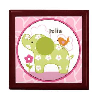 Personalized Jungle Jill/Girl Animals Keepsake Box