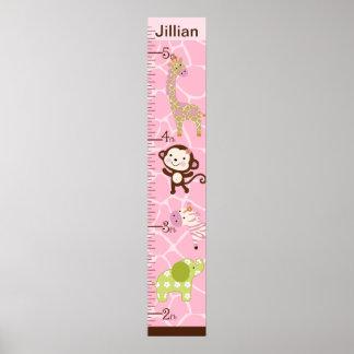Personalized Jungle Jill Growth Chart #2