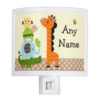 Personalized Jungle Stack Animals Night Light