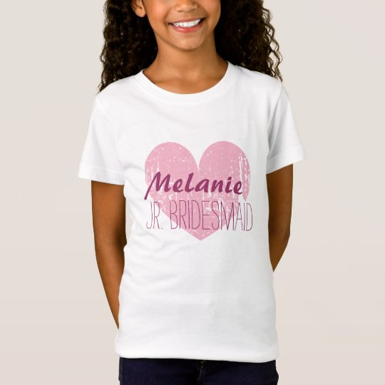 Personalized junior bridesmaid t shirt for girls