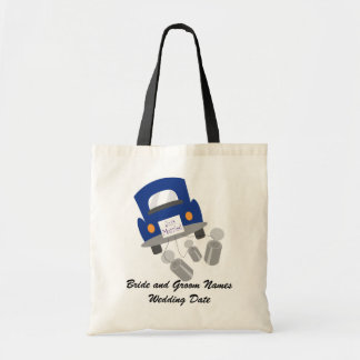 Personalized Just Married Car Tote Bag