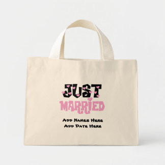 Personalized Just Married Tote Bag