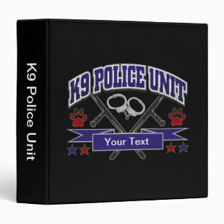 Personalized K9 Police Unit 3 Ring Binder