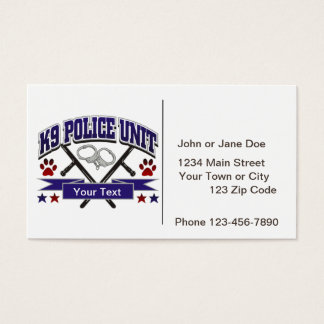 Law enforcement business cards and business card templates for Police business card templates