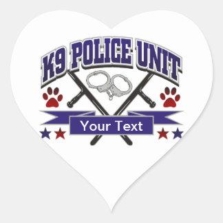 Personalized K9 Police Unit Heart Sticker