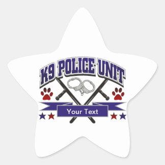 Personalized K9 Police Unit Star Sticker