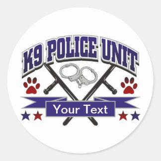 Personalized K9 Police Unit Round Sticker