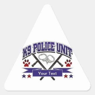 Personalized K9 Police Unit Triangle Sticker