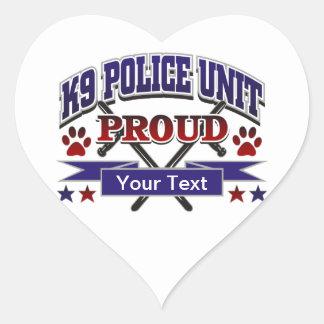 Personalized K9 Unit Proud Heart Sticker