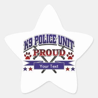 Personalized K9 Unit Proud Star Sticker