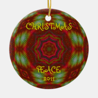 Personalized Kaleidoscopic Fractal Ornament.2 Ceramic Ornament