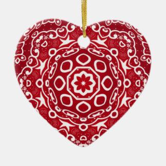 Personalized Kaleidoscopic Heart Ornament.1 Ceramic Ornament