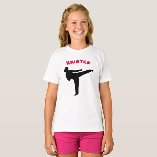 Personalized Karate Girl Shirt