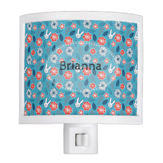Personalized Kawaii Usagi Floral Pattern Night Lights