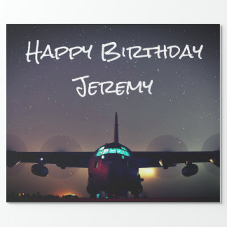 Personalized KC-130 Turboprop Plane Wrapping Paper