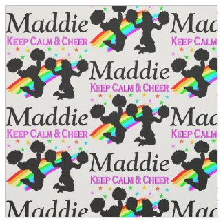PERSONALIZED KEEP CALM AND CHEER FABRIC