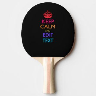 Personalized KEEP CALM AND Edit Text Multicolored Ping Pong Paddle