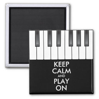 Personalized KEEP CALM and PLAY ON -Keyboard piano Magnet
