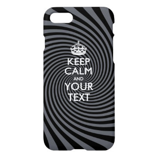 Personalized KEEP CALM AND Your Text iPhone 8/7 Case