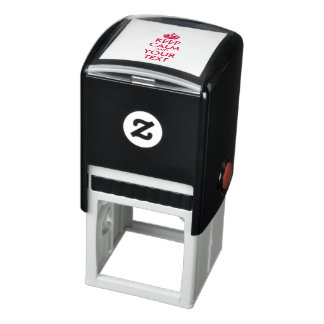 Personalized KEEP CALM and YOUR TEXT Self-inking Stamp