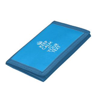 Personalized KEEP CALM and YOUR TEXT Tri-fold Wallet