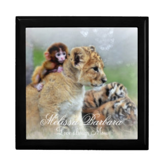 Personalized Keepsake Box Large/Tigers and Monkeys