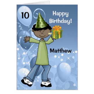 Personalized Kid s Birthday with Age for a Boy Greeting Card