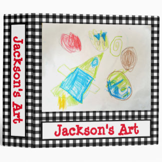 Personalized Kids Art Binder with Photo