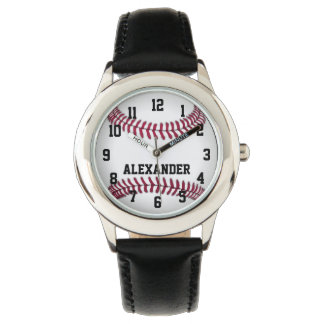 Personalized Kids Boys Baseball Watch