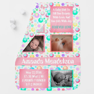 Personalized kids collage baby blanket