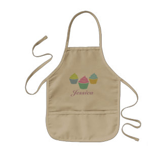 Personalized kids cupcake baking apron party favor