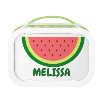Personalized kid's lunch box with watermelon print