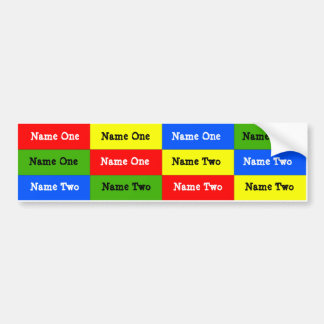 Personalized Kids Name Labels; Waterproof Stickers Bumper Sticker