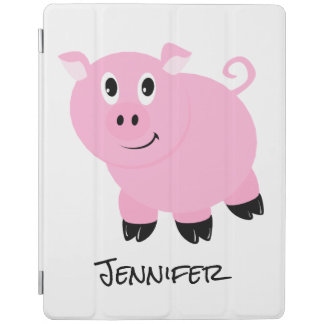 Personalized Kids Pink Pig Cute Little Pigs Animal iPad Cover
