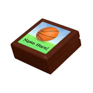 Personalized Kid's Sports Basketball Sunny Day Gift Box