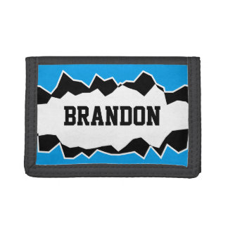 Personalized kids wallet with funny ripped hole