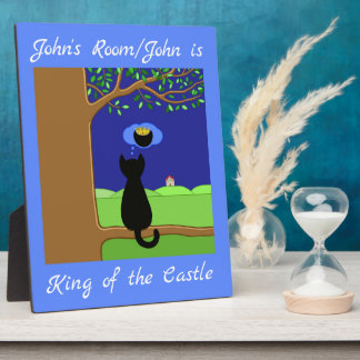 Personalized King of the Castle Plaque