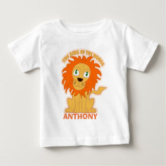 Personalized king of the house baby T-Shirt