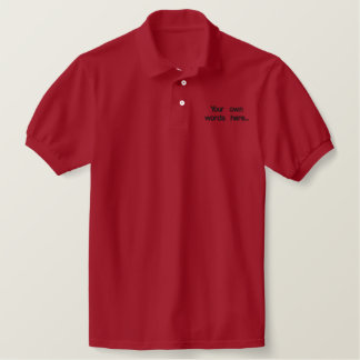 Personalized king size shirt embroidered polo shirt