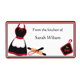 Personalized Kitchen Labels large size