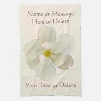 Personalized Kitchen Magnolia Towels for Her