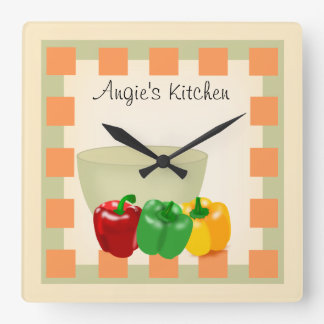 Personalized Kitchen Recipe Clock - Veggies