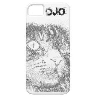 Personalized Kitty Face Outline iPhone 5 Case
