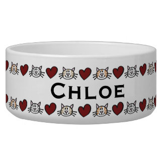 Personalized Kitty Love Pet Feed Bowl