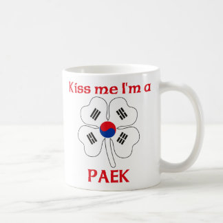 Personalized Korean Kiss Me I'm Paek Classic White Coffee Mug